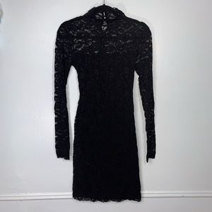 Moda International Black Lace Dress